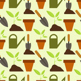 Gardening pattern Stock Images