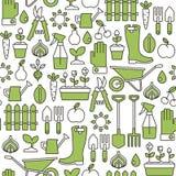 Gardening pattern Royalty Free Stock Images