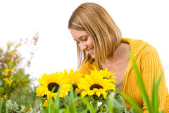 Gardening - portrait of smiling woman Stock Photography