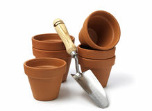 Gardening pots Royalty Free Stock Photo