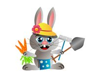 Gardening rabbit Royalty Free Stock Images