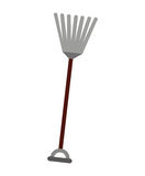 Gardening rake isolated icon design Royalty Free Stock Photography