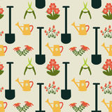 Gardening Repeat Pattern - Illustration Stock Photo
