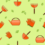 Gardening seamless pattern Stock Photos