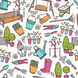 Gardening Seamless Pattern Royalty Free Stock Photo