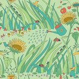 Gardening Seamless Pattern Royalty Free Stock Photography