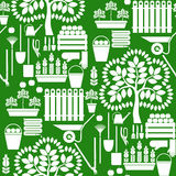 Gardening. Seamless vector pattern Royalty Free Stock Images