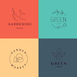 Gardening service brand mark graphic sample. Royalty Free Stock Images