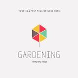 Gardening service brand mark graphic sample. Stock Image