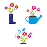 Gardening. A set of gardening icons Royalty Free Stock Images