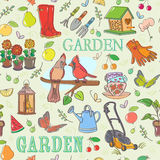 Gardening set seamless pattern Royalty Free Stock Photography