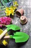 Gardening set for springtime Royalty Free Stock Photography