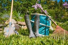 Gardening - Set Of Tools For Gardener Royalty Free Stock Image