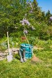 Gardening - Set Of Tools For Gardener Royalty Free Stock Photography
