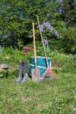Gardening - Set Of Tools For Gardener Royalty Free Stock Images