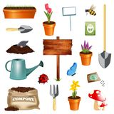 Gardening set royalty free illustration