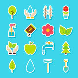 Gardening Spring Stickers Stock Image