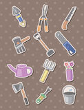 Gardening stickers Stock Photo