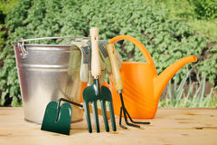 Gardening still life with various tools Royalty Free Stock Photo
