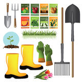 Gardening supplies collection Stock Images