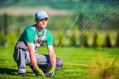Gardening Systems Technician Stock Photography