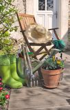 Gardening in terrace Stock Photography