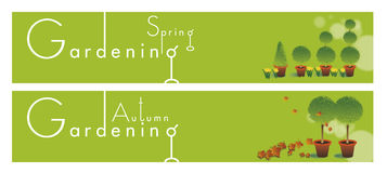 Gardening Themed Banners Royalty Free Stock Images