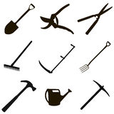 Gardening tool set Stock Photography