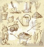 Gardening tools. Vector illustration of gardening tools Royalty Free Stock Photo
