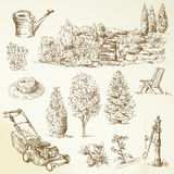 Gardening tools royalty free illustration