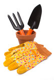 Gardening tools and accessories Stock Image