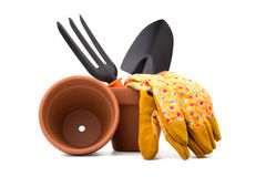 Gardening tools and accessories Stock Photography