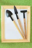 Gardening tools in the box Royalty Free Stock Image