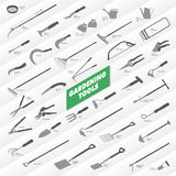 Gardening Tools Collection Stock Photography