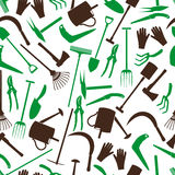 Gardening tools color pattern eps10 Royalty Free Stock Photography