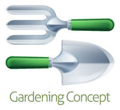 Gardening Tools Concept Royalty Free Stock Photos