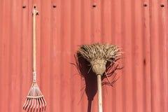 Gardening Tools Decor Display Royalty Free Stock Photos