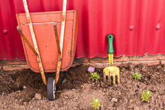 Gardening Tools Decor Display Stock Images