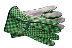 Gardening tools: gloves. With clipping path Royalty Free Stock Image