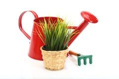 Gardening tools and grass Stock Photos