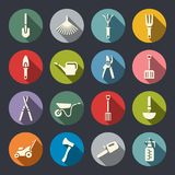 Gardening tools icon set Stock Photo