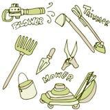 Gardening Tools Icon Set vector illustration