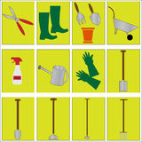 Gardening Tools icons Royalty Free Stock Photo