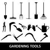Gardening tools icons eps10 Stock Photo