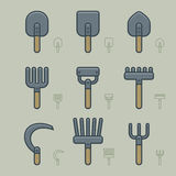 Gardening Tools Icons Royalty Free Stock Photos
