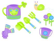Gardening Tools. Illustration of  gardening tools Stock Image