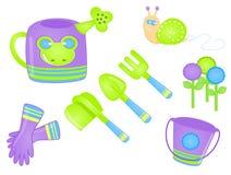 Gardening Tools. Illustration of gardening tools royalty free illustration