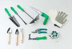 Gardening tools kit Royalty Free Stock Photography
