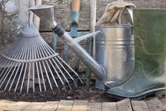 Gardening tools Royalty Free Stock Images