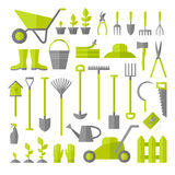 Gardening tools set. Royalty Free Stock Image